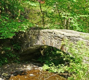 A packhorse bridge in the Luddenden Valley